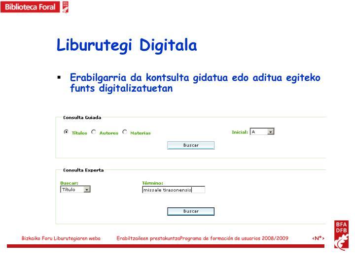 Liburutegi Digitala
