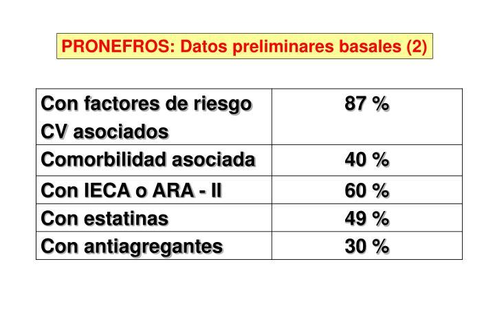 PRONEFROS: Datos preliminares basales (2)