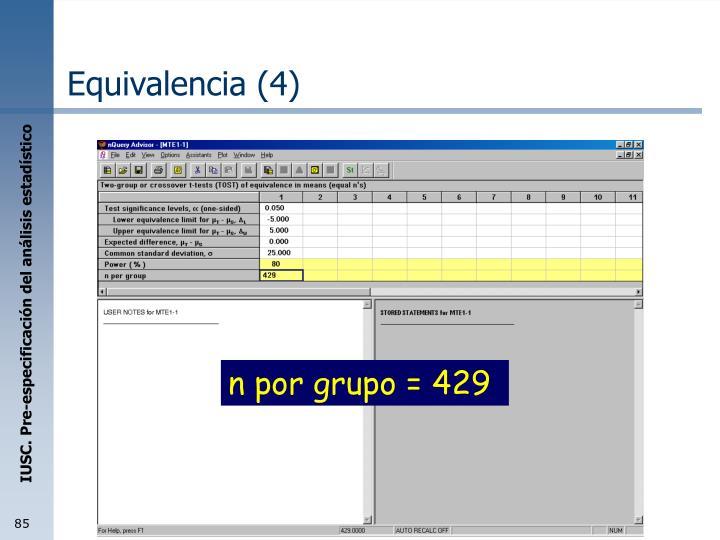 Equivalencia (4)