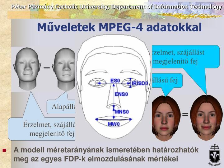 Műveletek MPEG-4 adatokkal