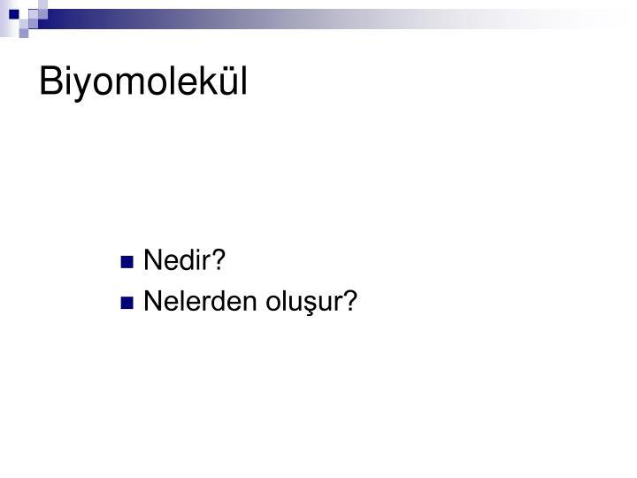 Biyomolekül