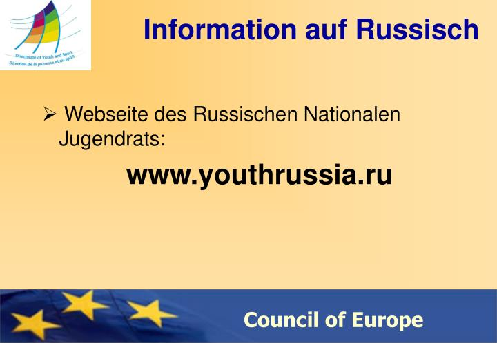 Information auf Russisch