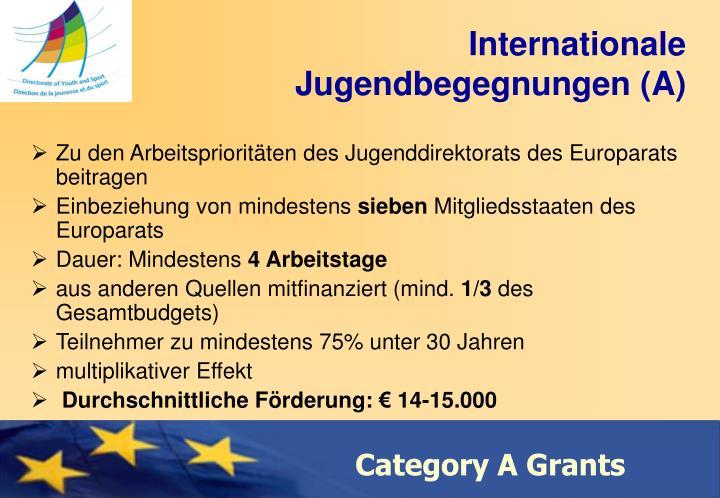Internationale  Jugendbegegnungen (A)