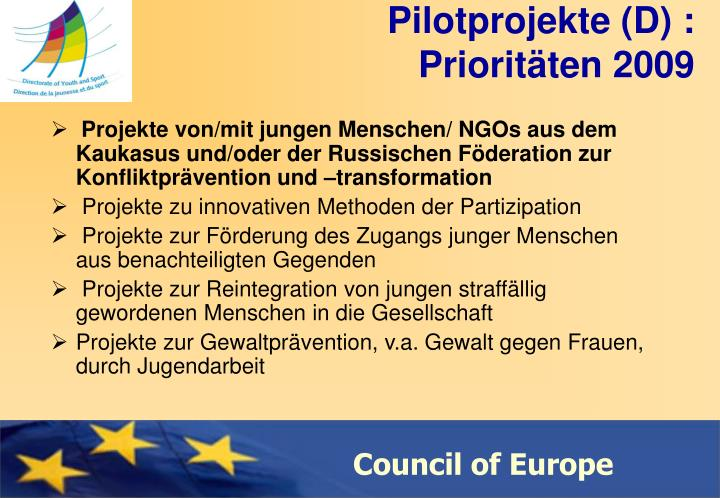 Pilotprojekte (D) :