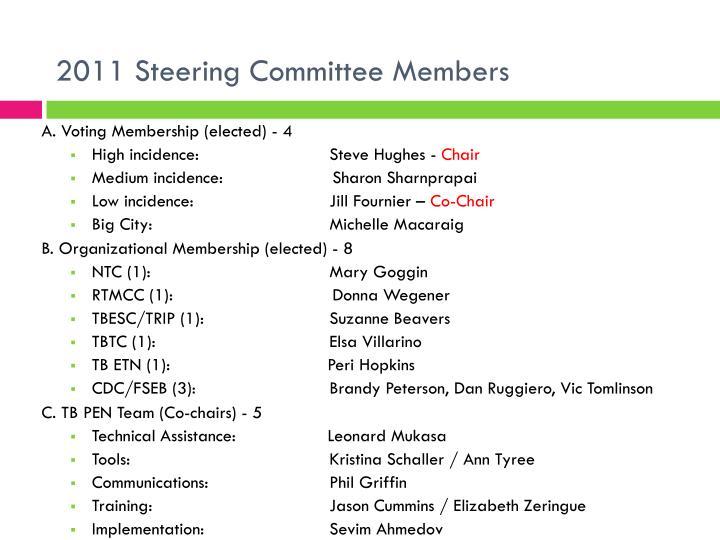 2011 Steering Committee Members