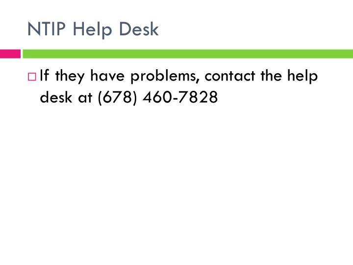 NTIP Help Desk