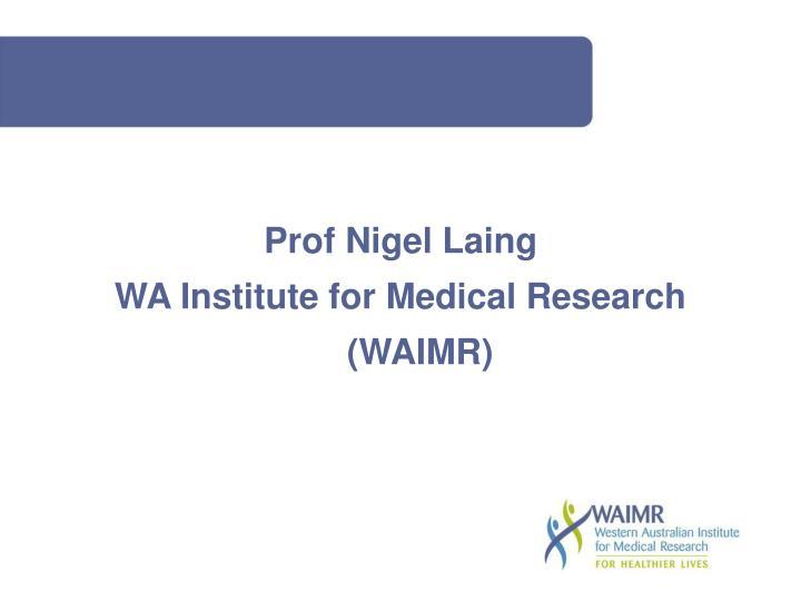 Prof Nigel Laing