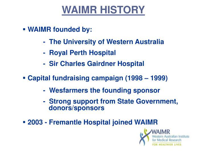 WAIMR HISTORY