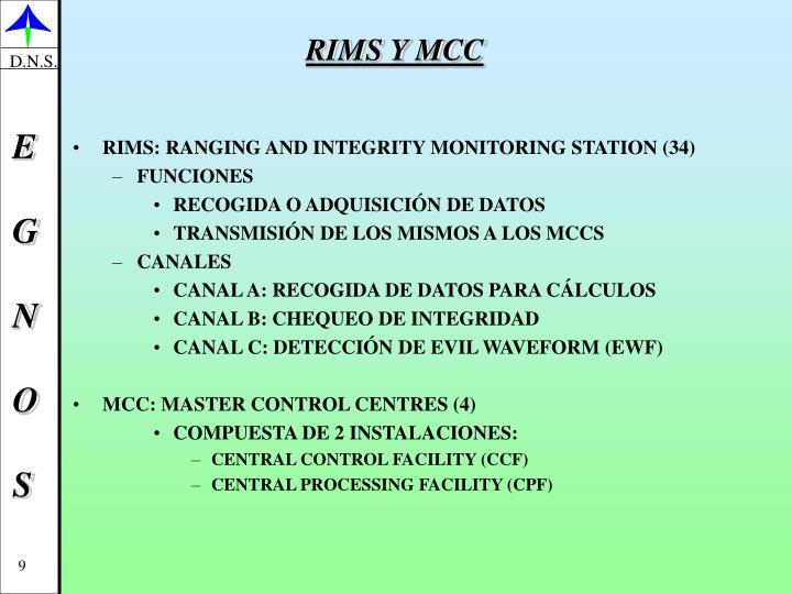 RIMS Y MCC