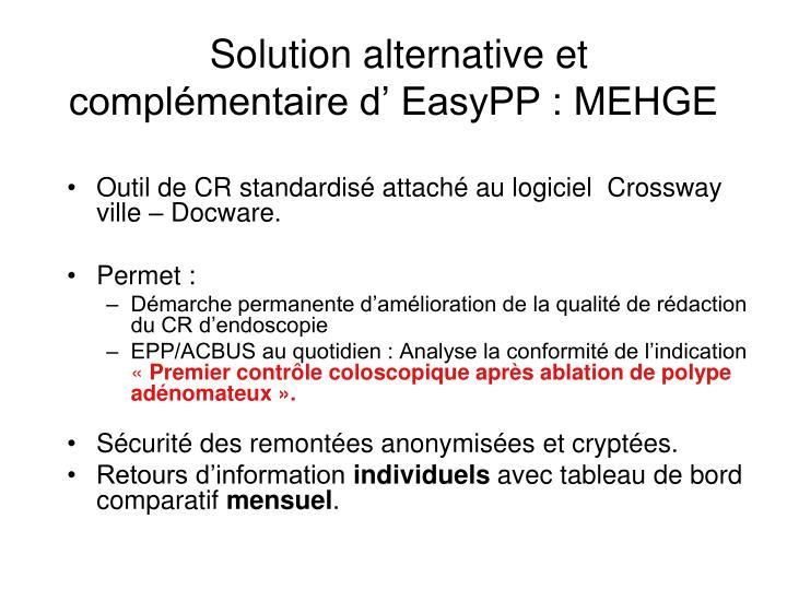 Solution alternative et complémentaire d' EasyPP : MEHGE