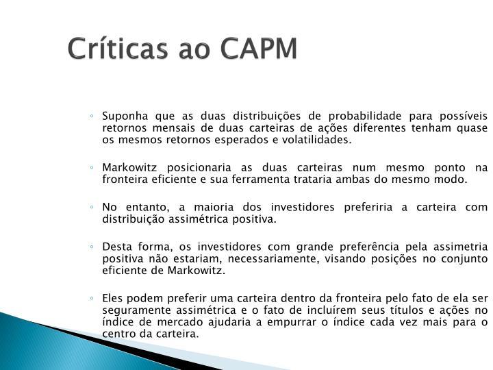 Críticas ao CAPM