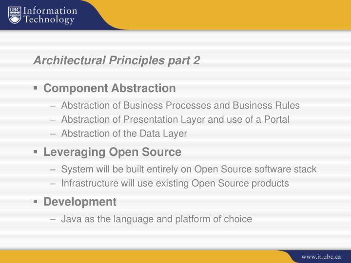 Architectural Principles part 2