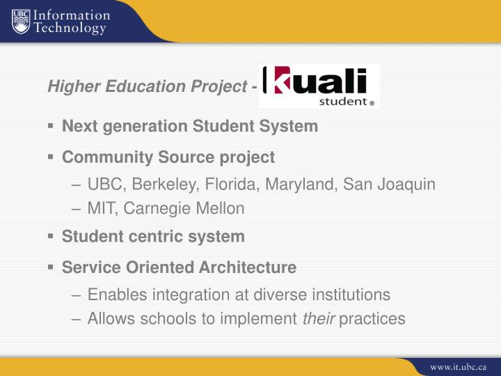 Higher Education Project -