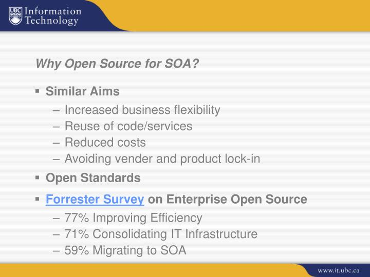 Why Open Source for SOA?