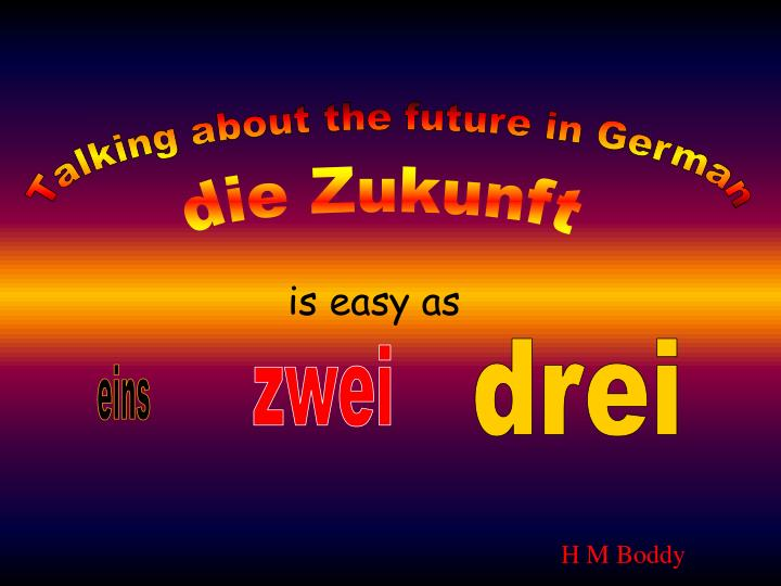 Talking about the future in German