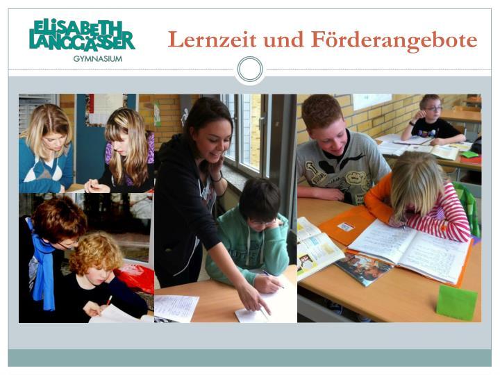 Lernzeit und Förderangebote