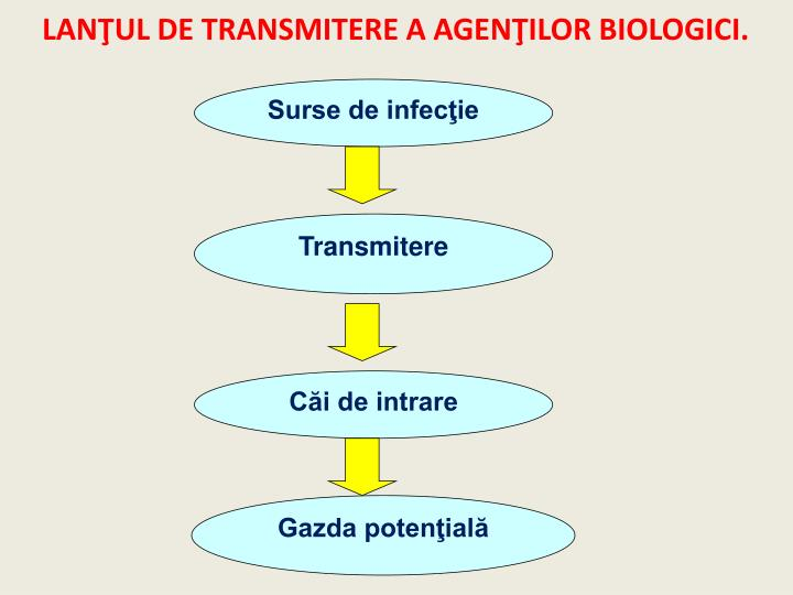 LANŢUL DE TRANSMITERE A AGENŢILOR BIOLOGICI.