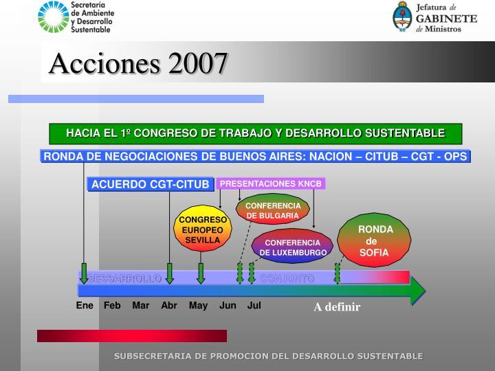Acciones 2007
