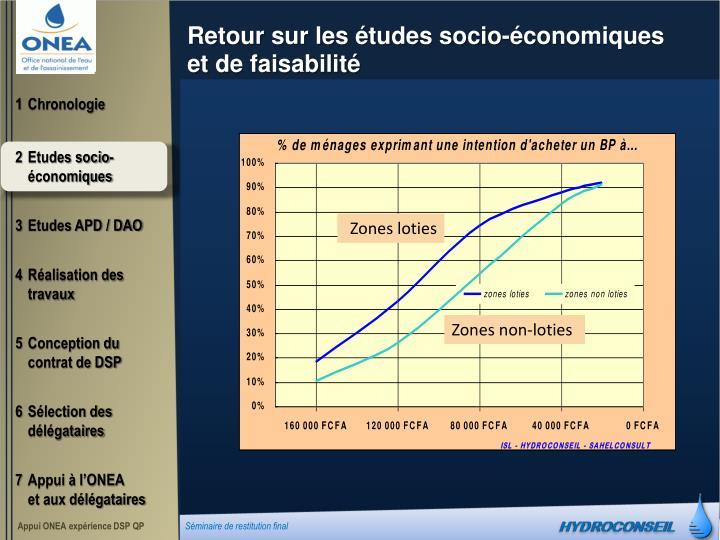 Retour sur les études socio-économiques