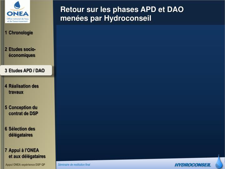 Retour sur les phases APD et DAO