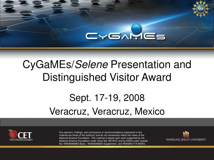 Cygames selene presentation and distinguished visitor award