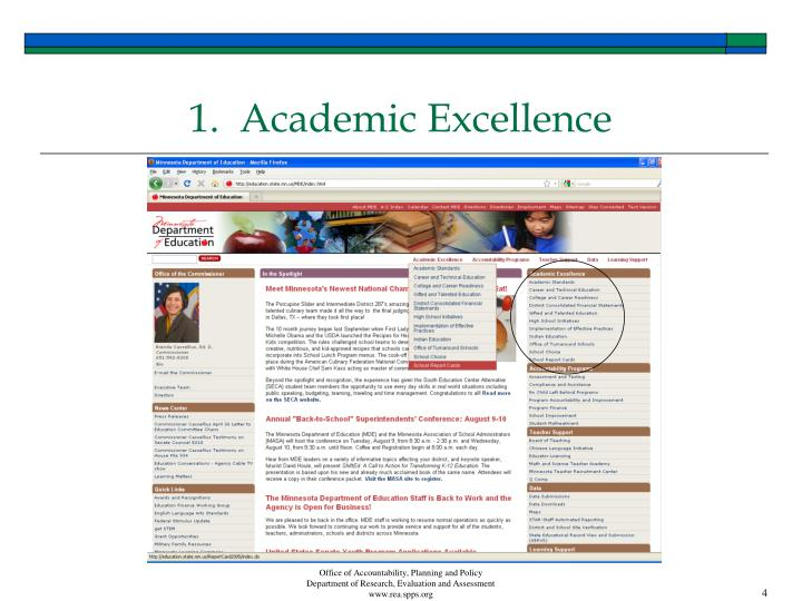 1.  Academic Excellence
