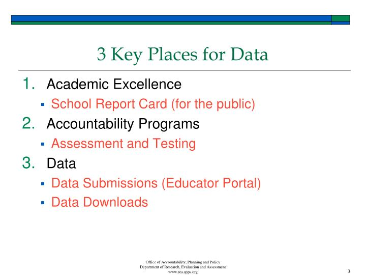 3 key places for data