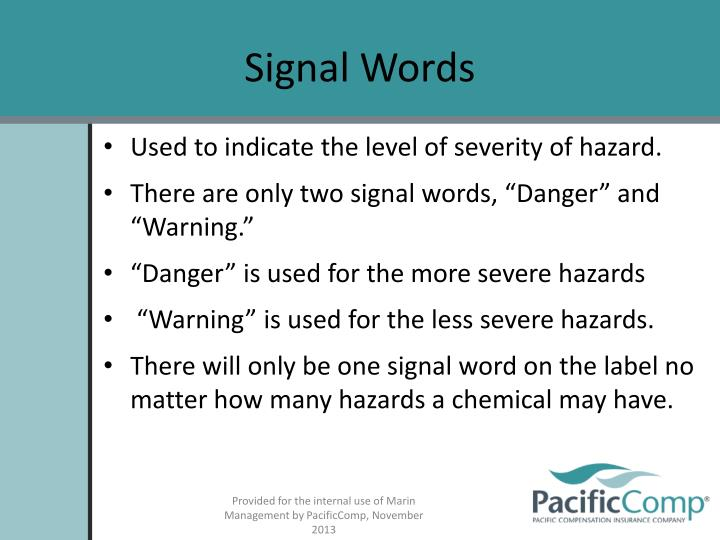 Signal Words