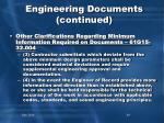 engineering documents continued