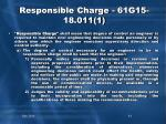 responsible charge 61g15 18 011 1
