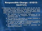 responsible charge 61g15 18 011 11