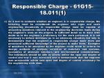 responsible charge 61g15 18 011 12