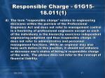 responsible charge 61g15 18 011 13