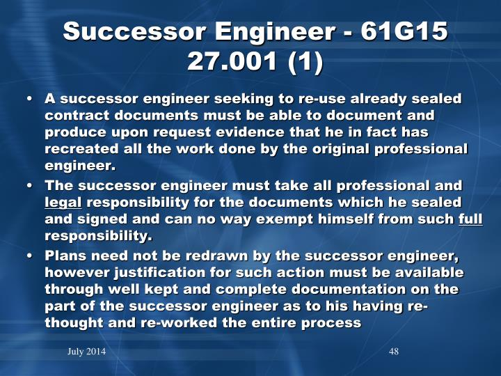 Successor Engineer - 61G15 27.001 (1)