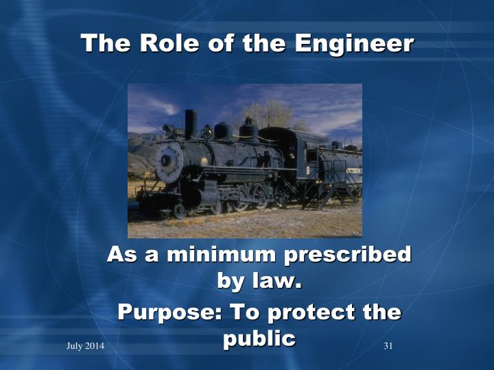 The Role of the Engineer