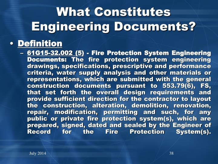 What Constitutes Engineering Documents?