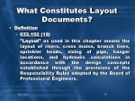 what constitutes layout documents