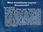 what constitutes layout documents1