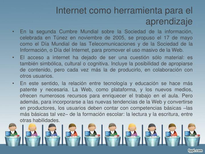 Internet como herramienta para el aprendizaje