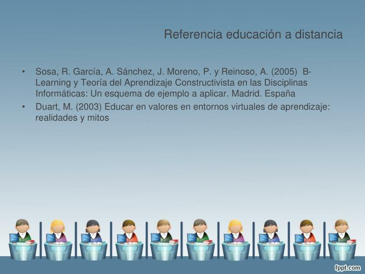 Referencia educación a distancia