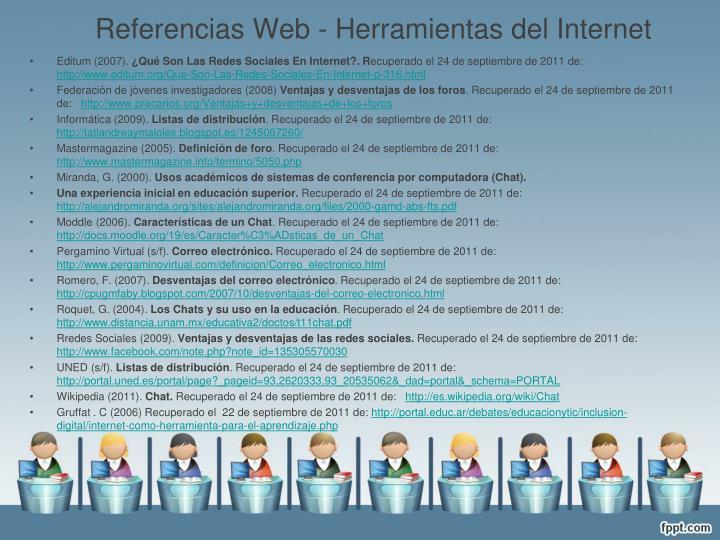 Referencias Web - Herramientas del Internet