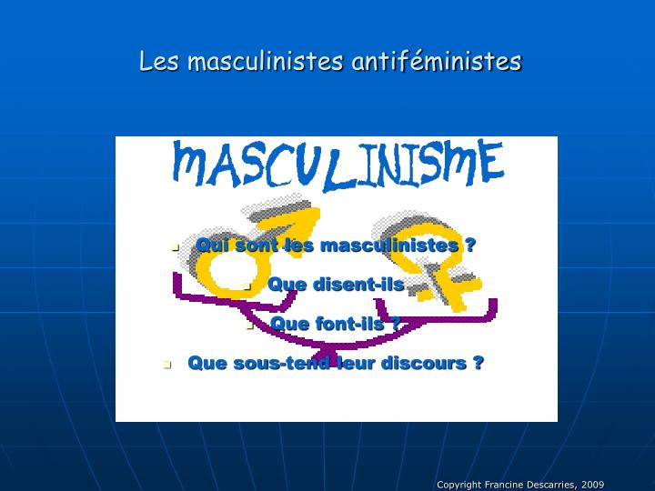 Les masculinistes antiféministes