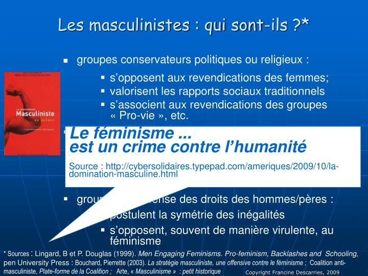 Les masculinistes : qui sont-ils ?*