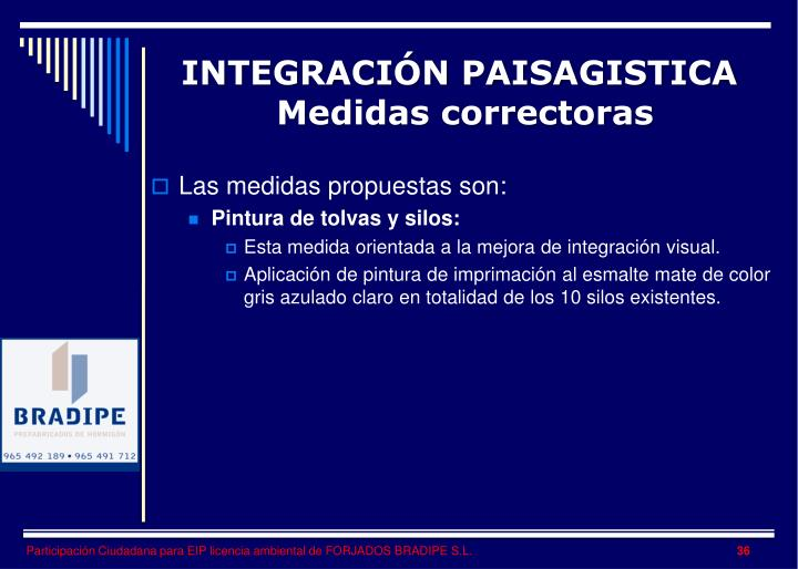 INTEGRACIÓN PAISAGISTICA