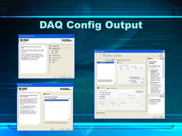 DAQ Config Output