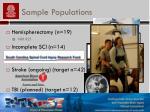 sample populations