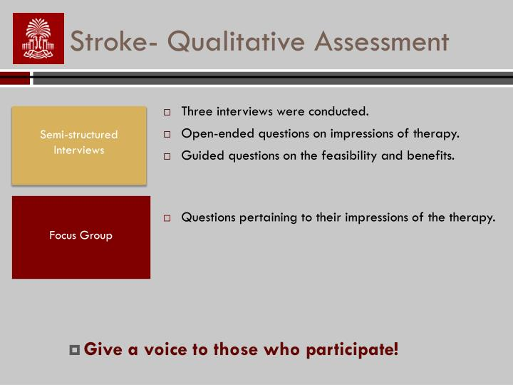 Stroke- Qualitative Assessment