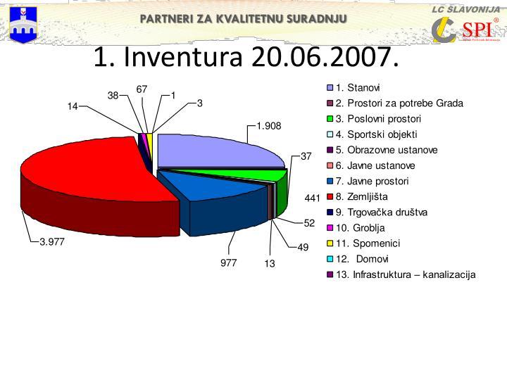 1. Inventura 20.06.2007.