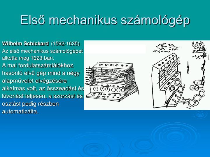 Első mechanikus számológép