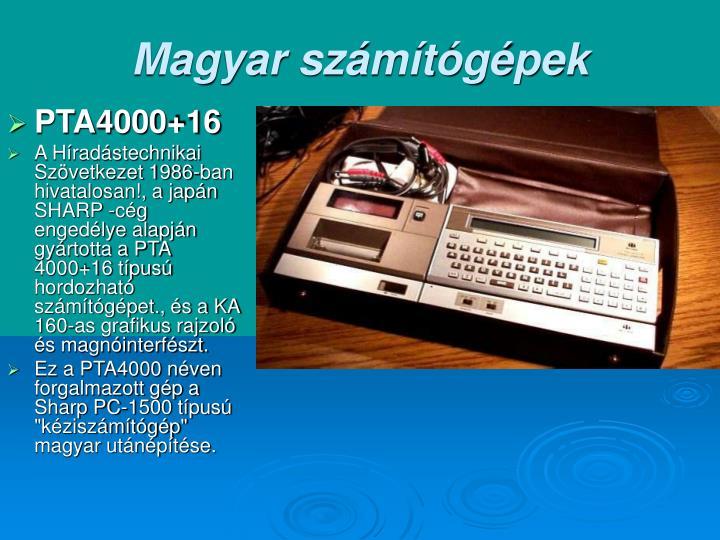 Magyar számítógépek